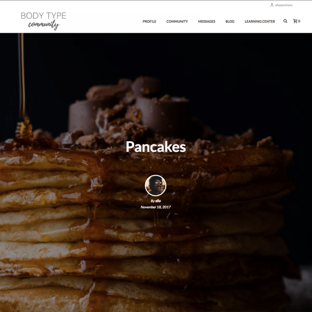 Type Me Community Pancakes
